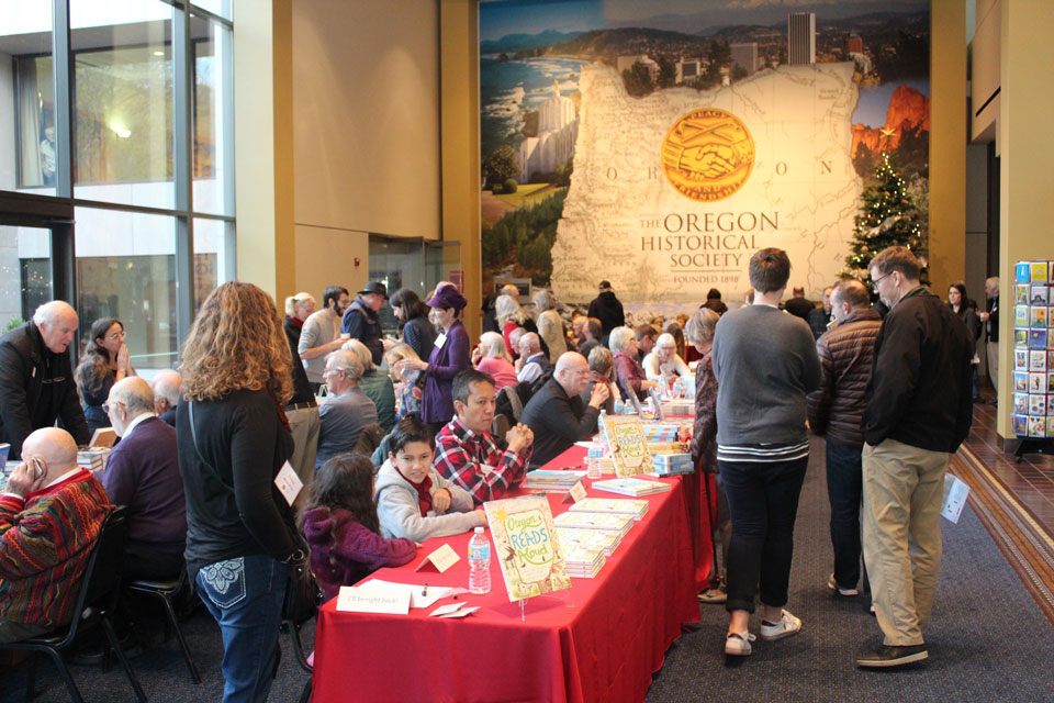 Oregon Historical Society Holiday Cheer event crowd