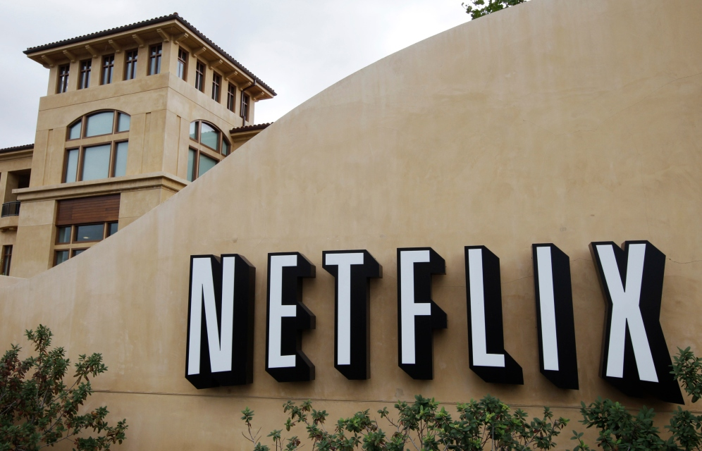 "This Oct. 11, 2011 file photo, shows the exterior of Netflix headquarters in Los Gatos, Calif. In December 2018, Netflix is facing criticism for pulling an episode, from viewing in Saudi Arabia of Minhaj's ""Patriot Act"" that lambasted Saudi Crown Prince Mohammed bin Salman over the killing of writer Jamal Khashoggi and the Saudi-led war in Yemen. (AP Photo/Paul Sakuma, File)"