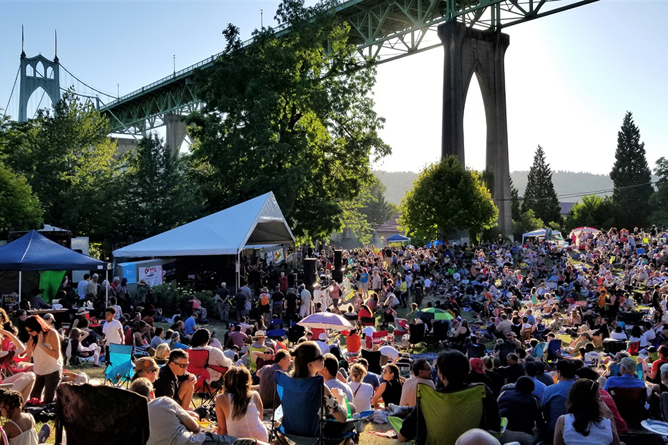 This year's Cathedral Park Jazz Festival kicks off Friday afternoon and continues through Sunday. Photo by Chris Lazarus.