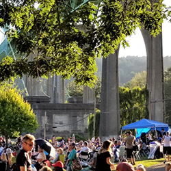 This year's Cathedral Park Jazz Festival kicks off Friday afternoon and continues through Sunday. Photo by Chris Lazarus