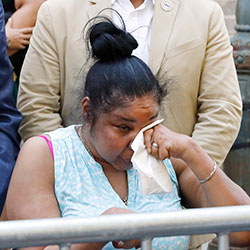 Esaw Snipes, widow of chokehold victim Eric Garner