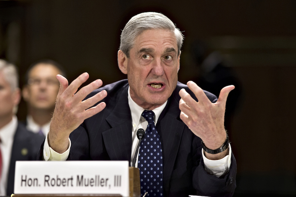 Former FBI Director Robert Mueller testifies on Capitol Hill in Washington, June 19, 2013. When special counsel Mueller testifies before Congress it will be a moment many have been waiting for, but it comes with risk for Democrats. (AP Photo/J. Scott Applewhite, file)