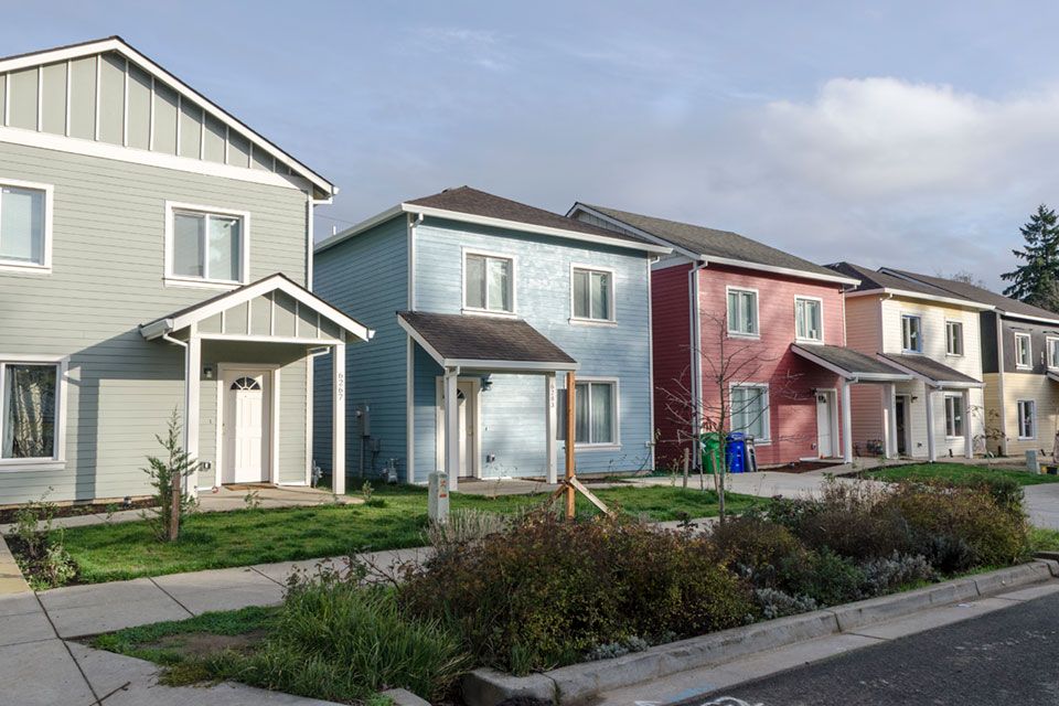 Helensview is a 21-unit Habitat for Humanity development at NE 64th Avenue and Killingsworth