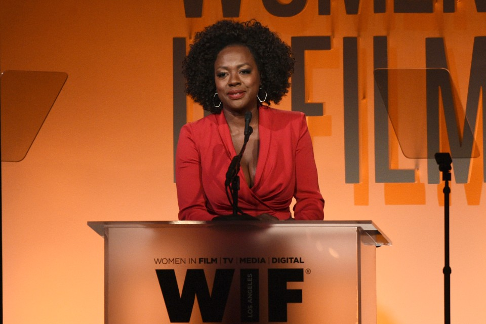 "FILE - This June 12, 2019 file photo shows Viola Davis speaking at the Women in Film Annual Gala in Beverly Hills, Calif. Davis believes in equality across the board and calls her JuVee Productions a ""walking metaphor"" of inclusion. (Photo by Chris Pizzello/Invision/AP, File)"