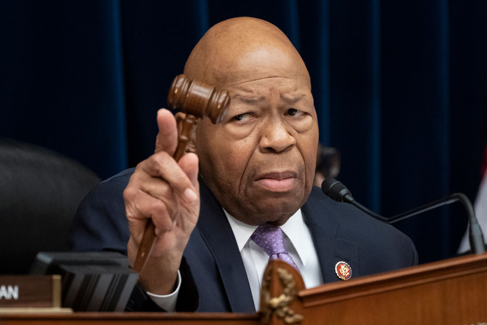 House Oversight and Reform Committee Chair Elijah Cummings, D-Md., leads a meeting to call for subpoenas after a career official in the White House security office says dozens of people in President Donald Trump's administration were granted security clearances
