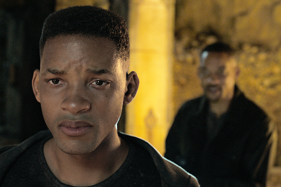 "This image released by Paramount Pictures shows Will Smith in ""Gemini Man,"" in theaters on Oct. 11. (Paramount Pictures via AP)"