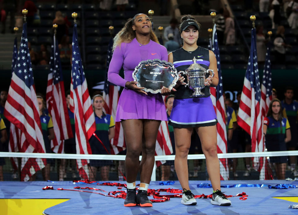 serena williams us open loss med