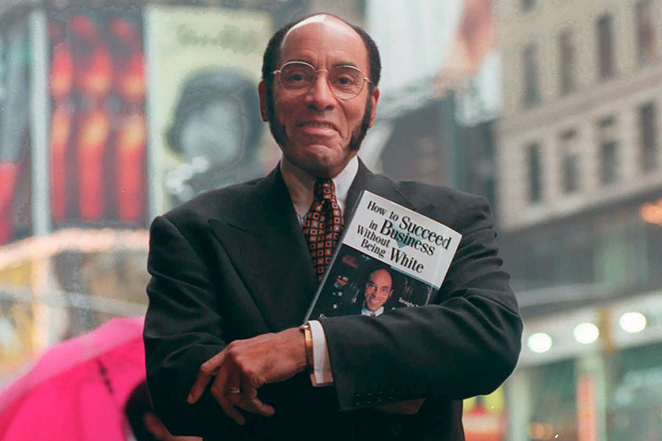 This Aug. 17, 1997 file photo shows Earl G. Graves Sr. with his book