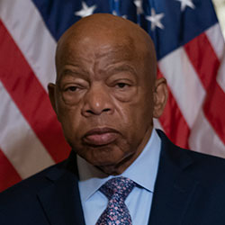 In this June 21, 2019, file photo, Rep. John Lewis, D-Ga., talks before signing the Taxpayer First Act of 2019, at the Capitol in Washington