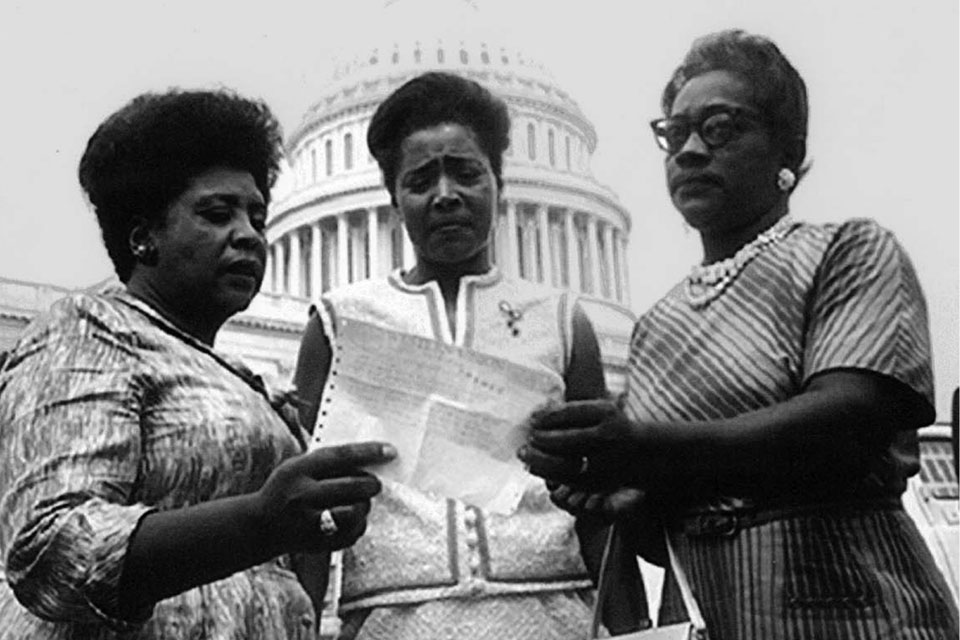 From left: Fannie Lou Hamer, Victoria Jackson Gray and Annie Devine in Washington in 1965