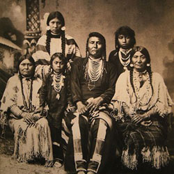 Chief Joseph and Family 1890s