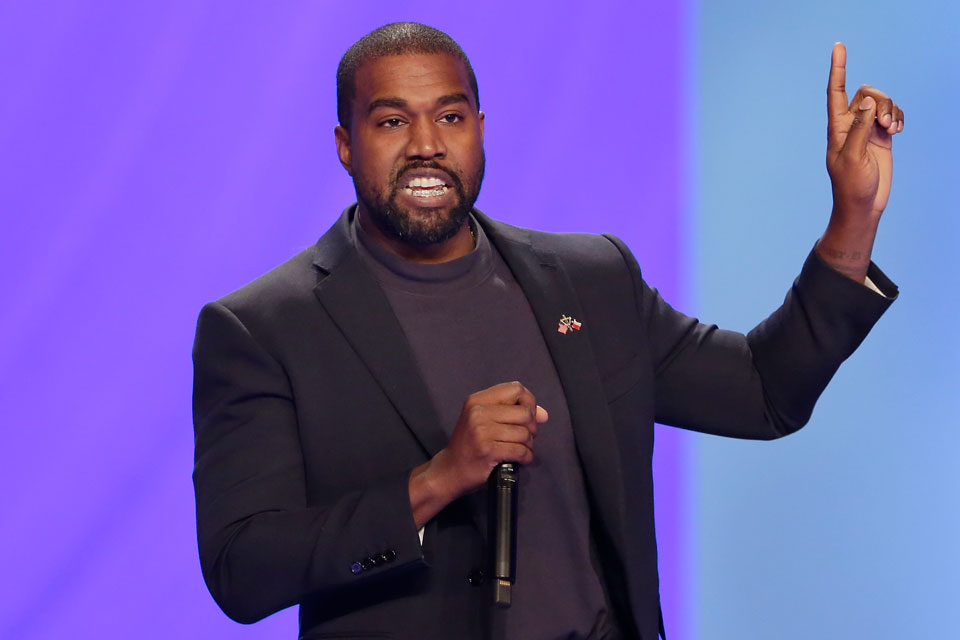 "Kanye West answers questions during a service at Lakewood Church Sunday, Nov. 17, 2019, in Houston. West says he is no longer a Trump supporter. The rapper, who once praised President Donald Trump, tells Forbes in a story published Wednesday that he is ""taking the red hat off"" — a reference to Trump's trademark red ""Make America Great Again"" cap. West also insisted that his weekend announcement that he's running for President was not a stunt to drum up interest in an upcoming album. (AP Photo/Michael Wyke, File)"