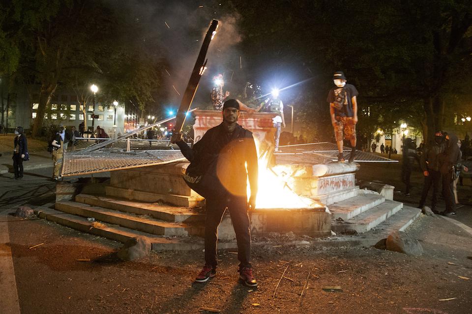 protester portland