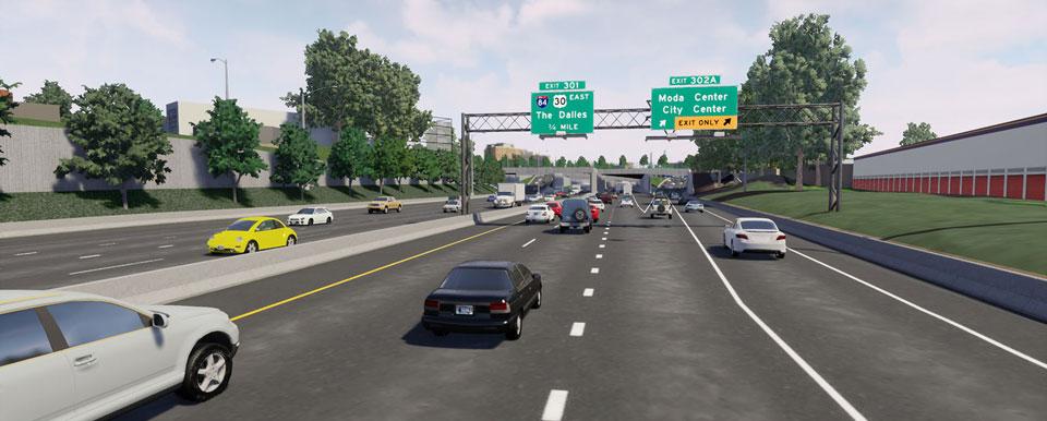 rose quarter rendering highway