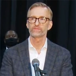 In this video screenshot, Mayor Ted Wheeler speaks at a press conference on May 31, 2020.