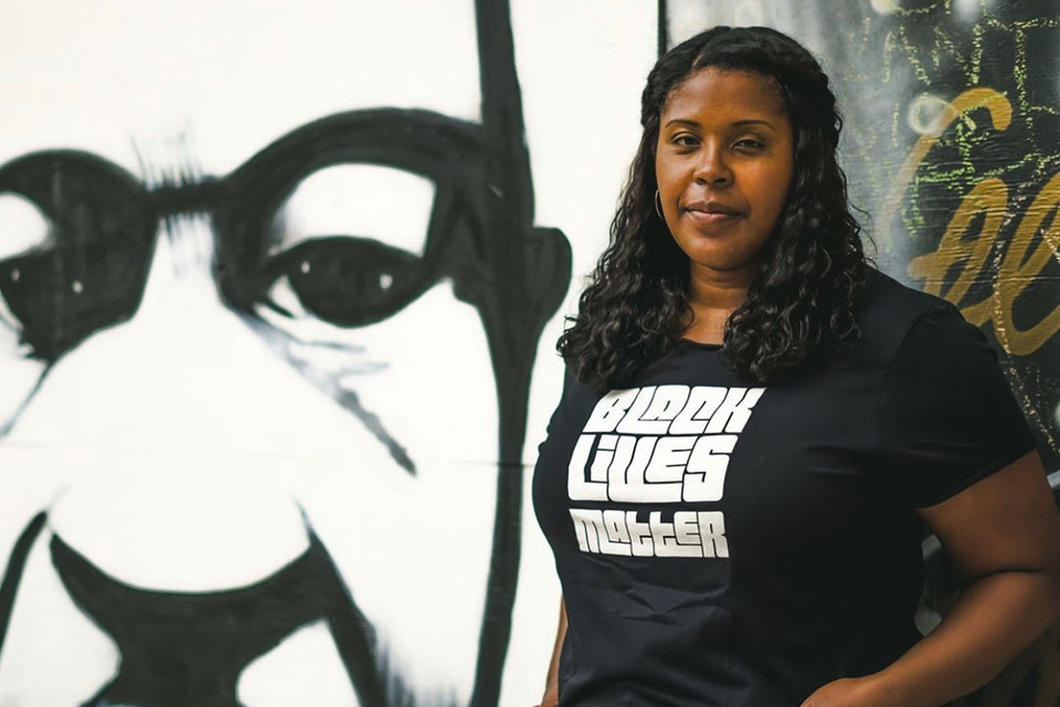 Kamelah Adams owns and designs Mimi's Fresh Tees, which have been popular at Black Lives Matter demonstrations and with the Portland Thorns women's soccer team. photo credit Jess Vanterpool