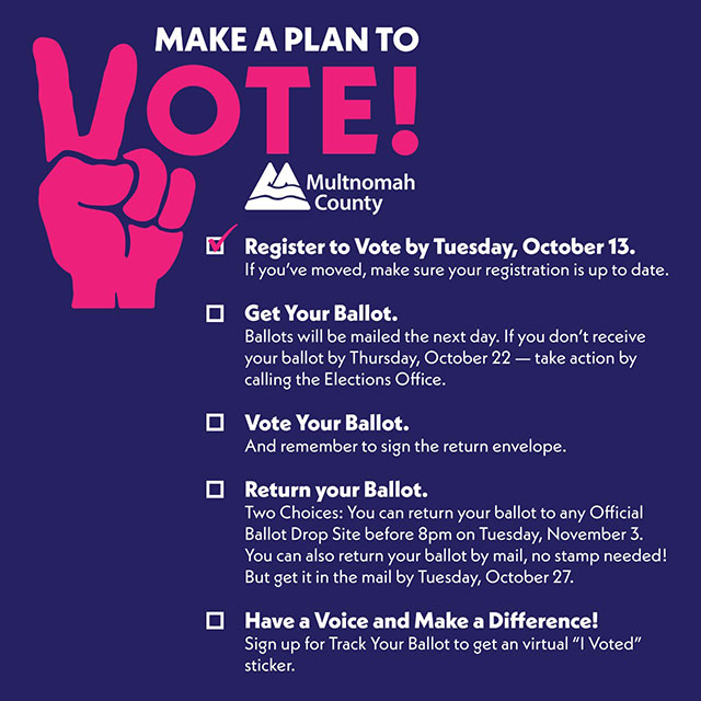 make a plan to vote checklist