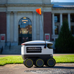 Starship Technologies has brought food delivery robots to the Oregon State University campus. Photos by Blake Brown, UHDS marketing manager. Date: Oct. 18, 2020.