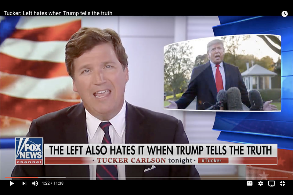 Tucker Carlson is a big fan of the phrase 'they hate.' Usually, he's talking about Democrats.