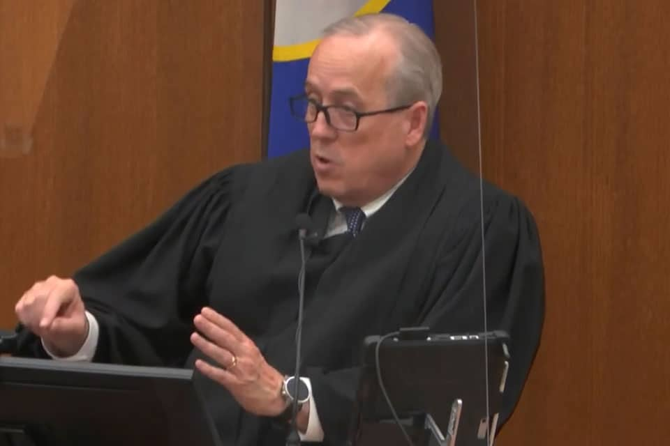 In this April 19, 2021, file image from video, Hennepin County Judge Peter Cahill addresses the court after the judge put the trial into the hands of the jury, in the trial of Chauvin, in the May 25, 2020, death of George Floyd at the Hennepin County Courthouse in Minneapolis, Minn. In a ruling May 12, 2021, Judge Cahill finds aggravating factors in death of George Floyd, paving way for tougher sentence for Chauvin. (Court TV via AP, Pool)