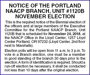 NAACP Portland Elections