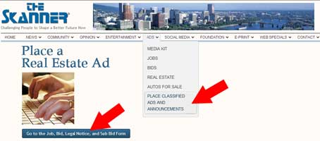 skanner place ads real estate