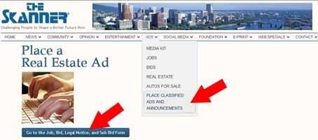 skanner place ads real estate