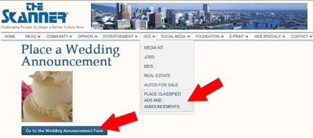skanner place ads wedding
