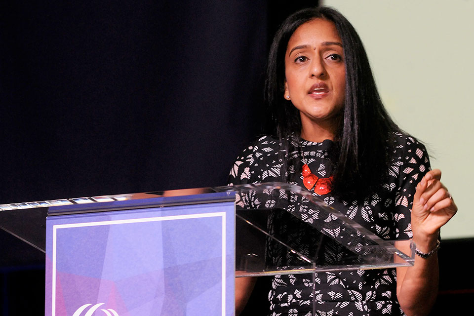 Vanita Gupta speaks at the Leadership Conference of Civil and Human Rights