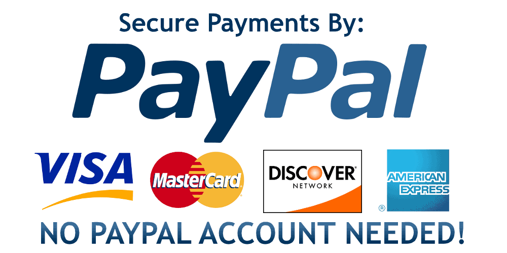paypal payment credit cards badge