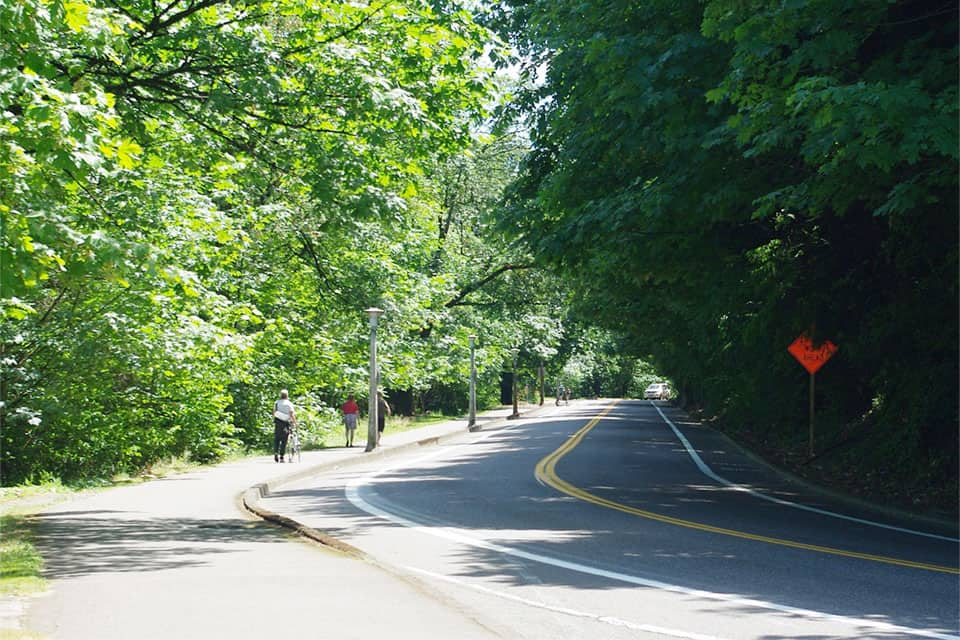 Southwest Terwilliger Blvd, at Duniway Park overlook in Portland, Ore. (Wikimedia Commons)