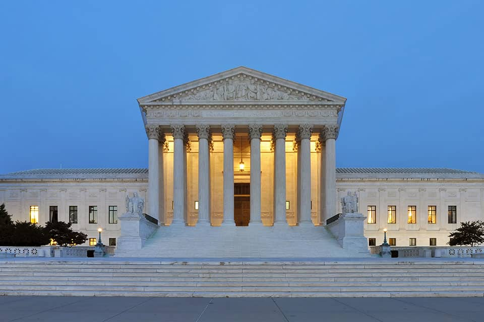 The U.S. Supreme Court building, completed in 1935, is considered a neoclassical masterpiece